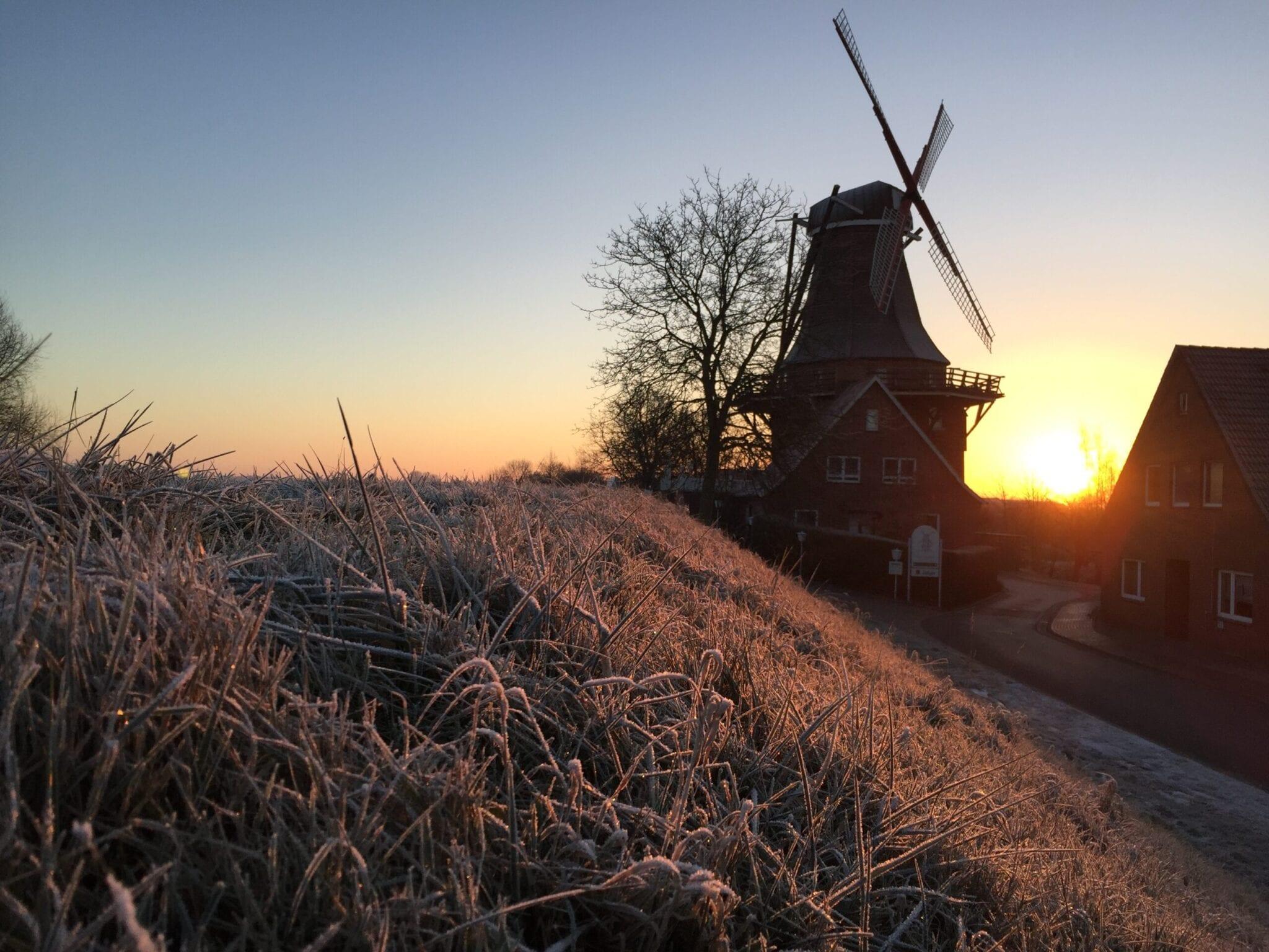 Mühle Aurora aus Borstel im Winter