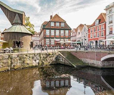 Hafenkran am Fischmarkt Altstadt Stade