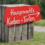 Tortenschild Obsthof Bey im Alten Land