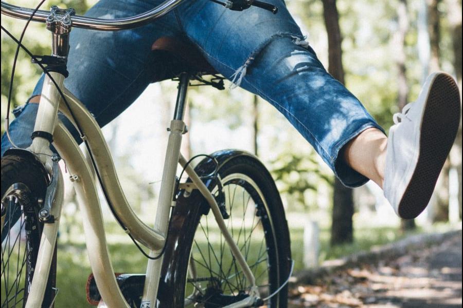 Radfahrer im Alten Land